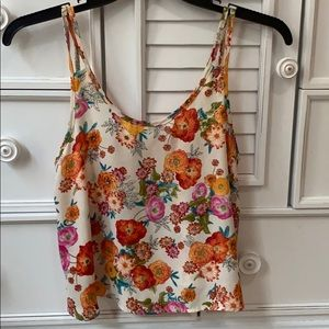 SMALL Papaya floral top